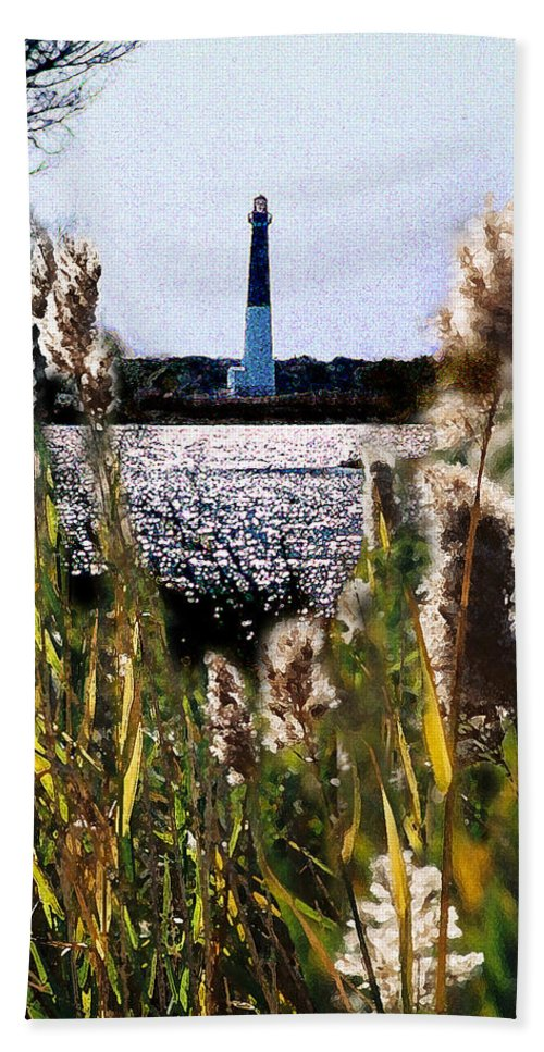 Barnegat Beach Towel featuring the digital art Barnegat Bay by Steve Karol