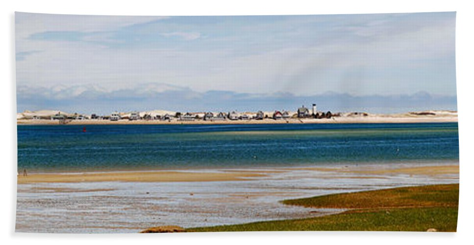 Barnstable Beach Towel featuring the photograph Barnstable Harbor Panorama by Charles Harden