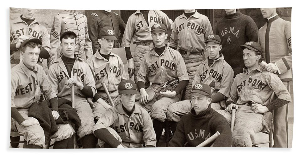 1896 Beach Towel featuring the photograph Baseball: West Point, 1896 by Granger