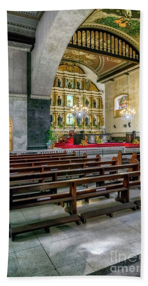 Catholic Beach Towel featuring the photograph Basilica Minore Del Santo Nino by Adrian Evans