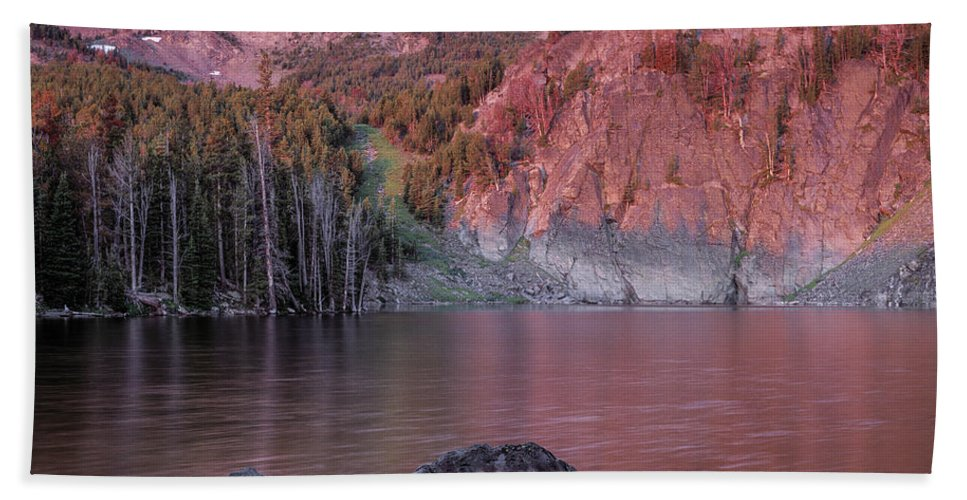 Altitude Beach Towel featuring the photograph Basin Lake Sunrise 2 by Leland D Howard