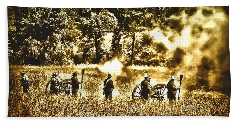 Gettysburg Beach Towel featuring the photograph Battle Of Gettysburg by Bill Cannon
