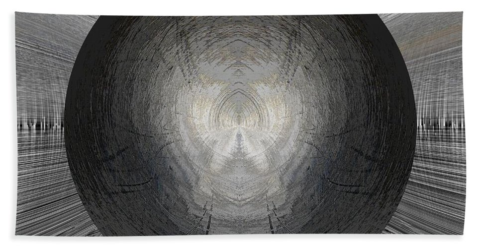 Battlefield Beach Towel featuring the digital art Battlefield Within by Tim Allen