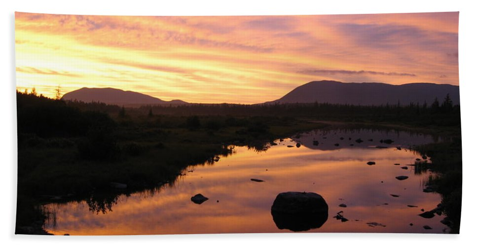 Baxter Beach Towel featuring the photograph Baxter State Park At Sunset by Nina Kindred