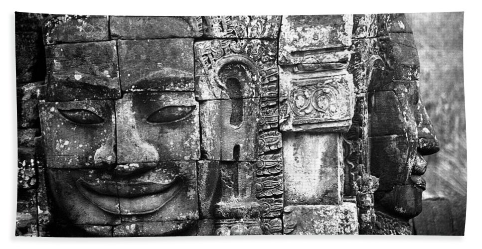 Bayon Temple Beach Sheet featuring the photograph Bayon IIi by Patrick Klauss
