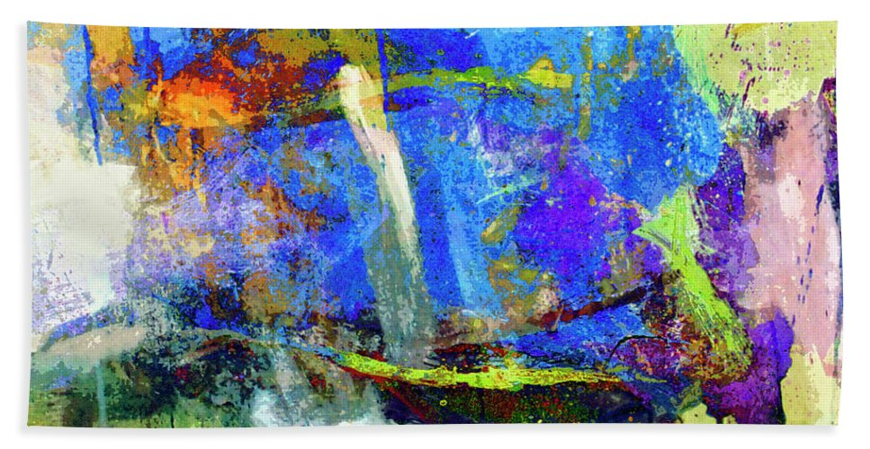 Abstraction Beach Towel featuring the painting Bayou Teche by Dominic Piperata