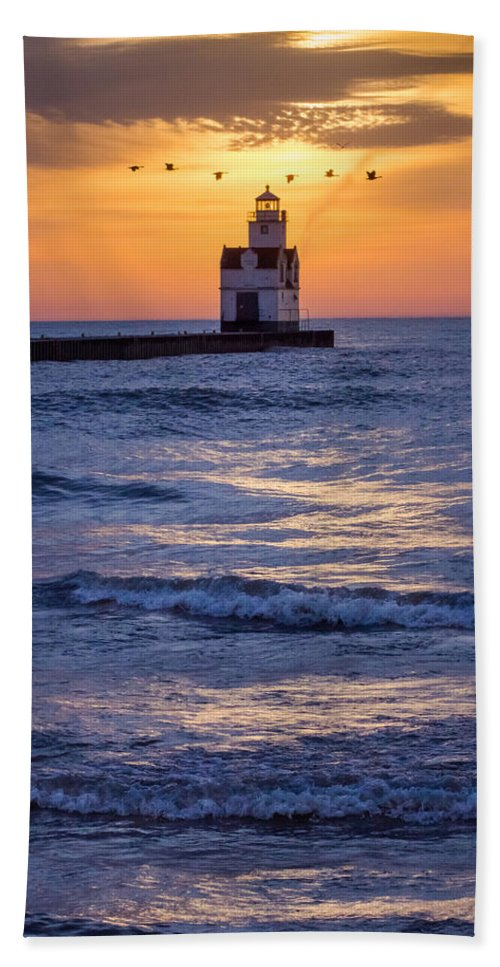 Lighthouse Beach Towel featuring the photograph Be Still My Soul by Bill Pevlor