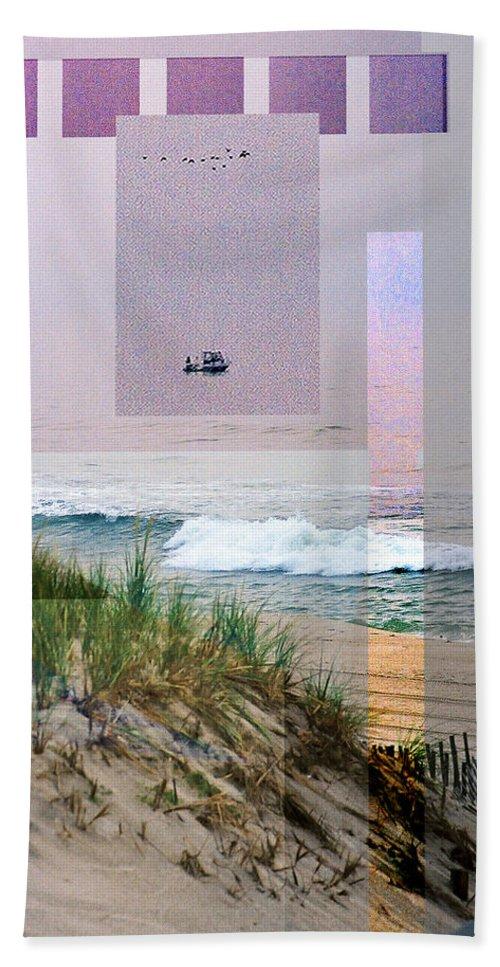 Landscape Beach Towel featuring the digital art Beach Collage 3 by Steve Karol
