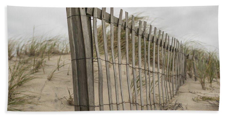 Barrier Beach Towel featuring the photograph Beach Fence by Juli Scalzi