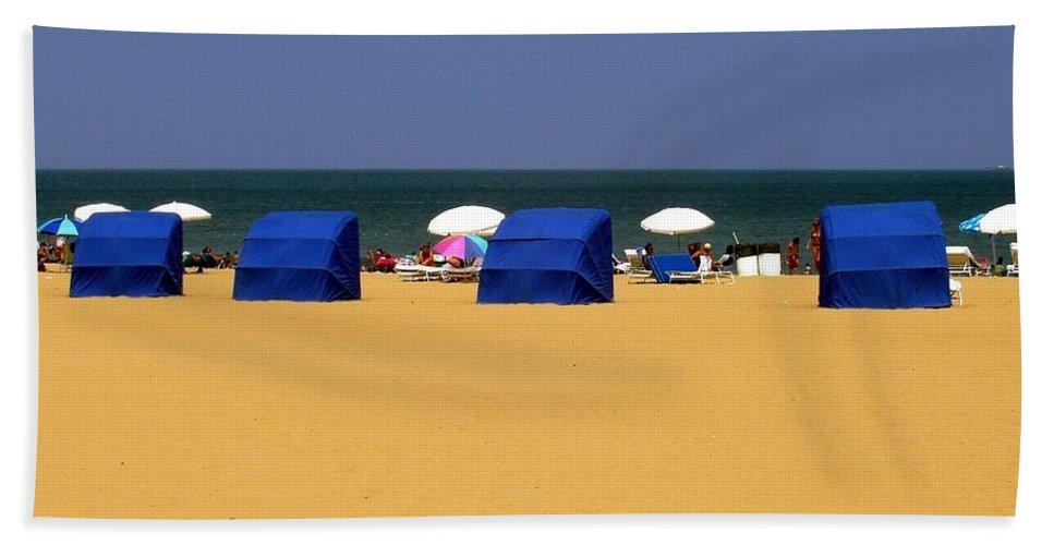 Beach Beach Towel featuring the photograph Beach Tents by Deborah Crew-Johnson