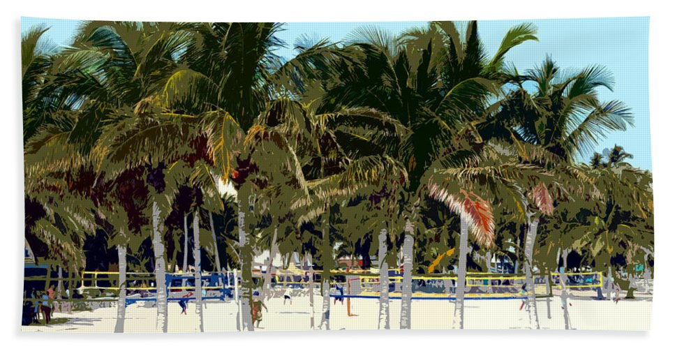 Beach Beach Towel featuring the photograph Beach Volleyball by David Lee Thompson