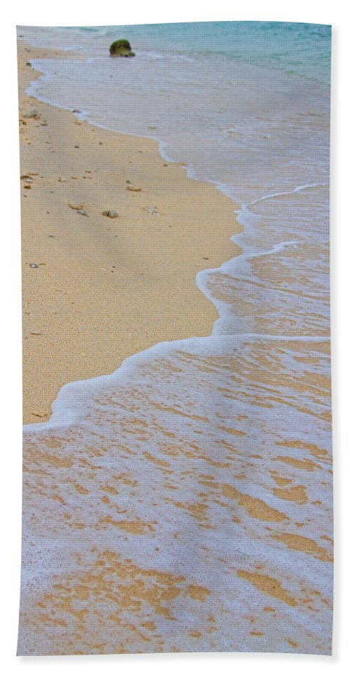 stock Images Beach Towel featuring the photograph Beach Water Curves by James BO Insogna