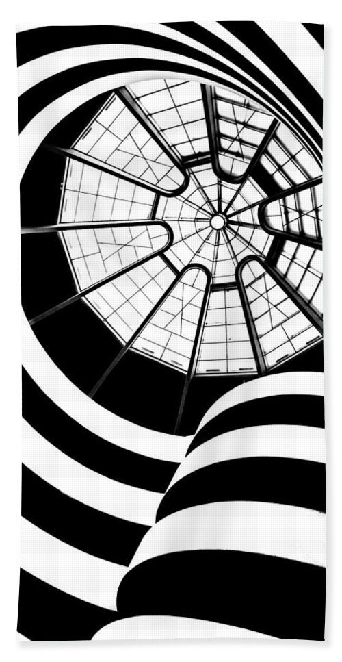Guggenheim Museum Beach Towel featuring the photograph Beam Me Up by Az Jackson