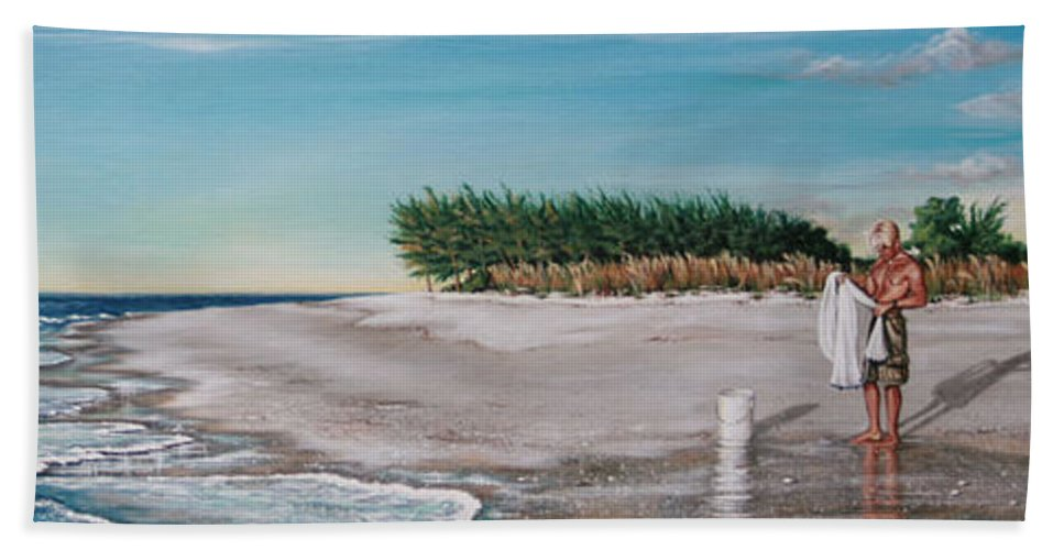 Beach Beach Towel featuring the painting Bean Point by Joan Garcia