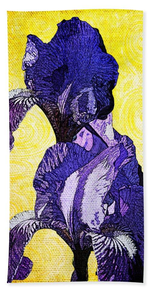 Bearded Beach Towel featuring the photograph Bearded Iris by Teresa Mucha