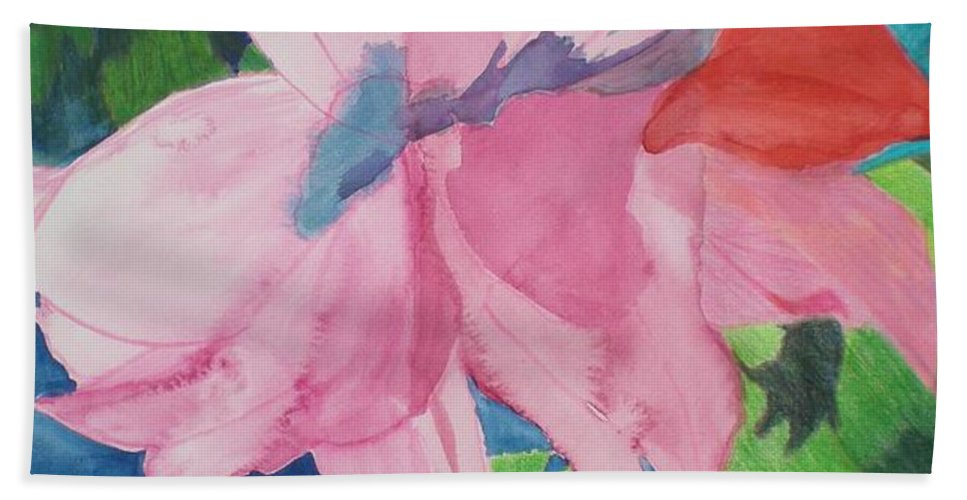 Flower Beach Sheet featuring the painting Beautiful Azalea by Hal Newhouser
