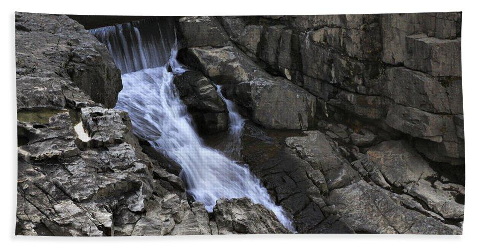 Water Beach Towel featuring the photograph Beautiful Flow Of Power by Deborah Benoit