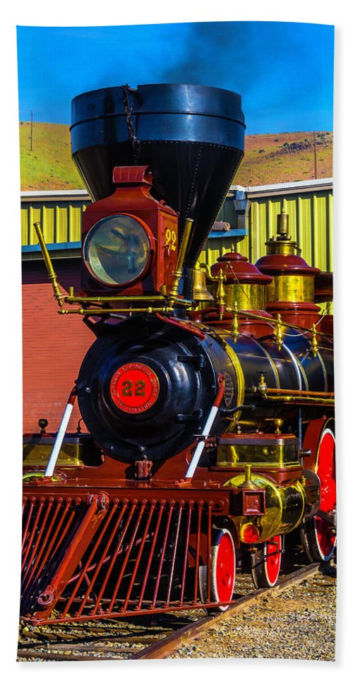 Virgina & Truckee Beach Towel featuring the photograph Beautiful Virgina And Truckee Steam Train by Garry Gay