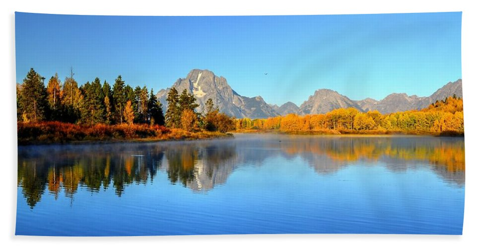 Landscape Beach Towel featuring the photograph Beauty At The Bend by Michael Morse