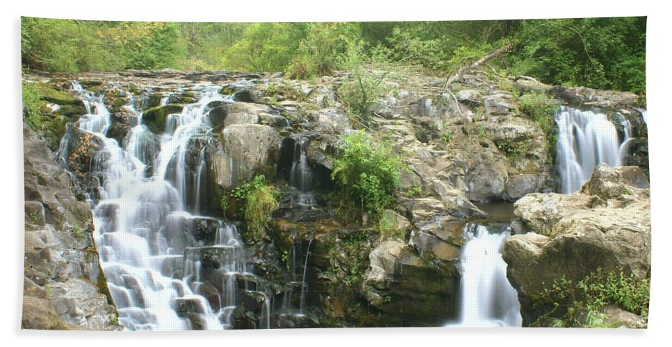Waterfall Beach Towel featuring the photograph Beauty Falls by Marty Koch