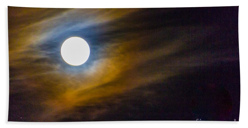Beaver Moon Beach Towel featuring the photograph Beaver Moon by William Norton