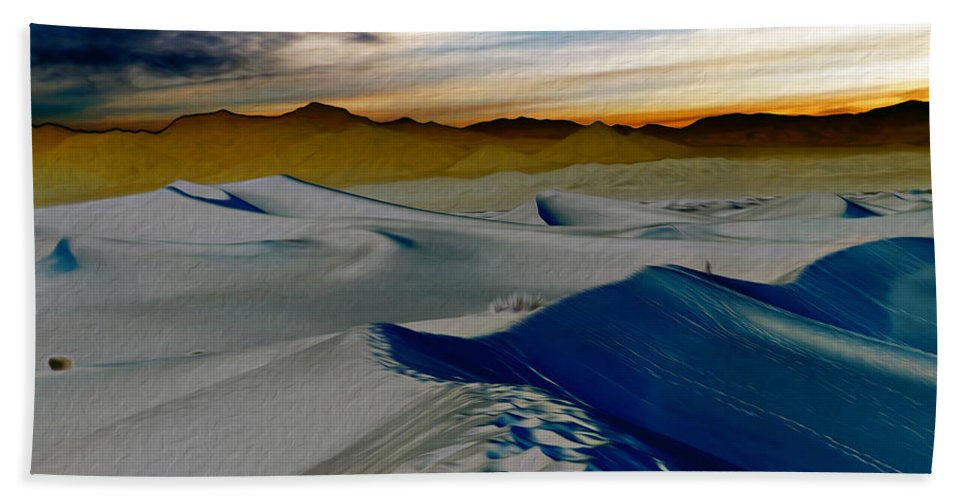 Death Valley Beach Towel featuring the photograph Been Through The Desert by Joe Schofield
