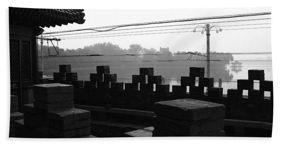 Beijing Beach Towel featuring the photograph Beijing City 1 by Xueling Zou