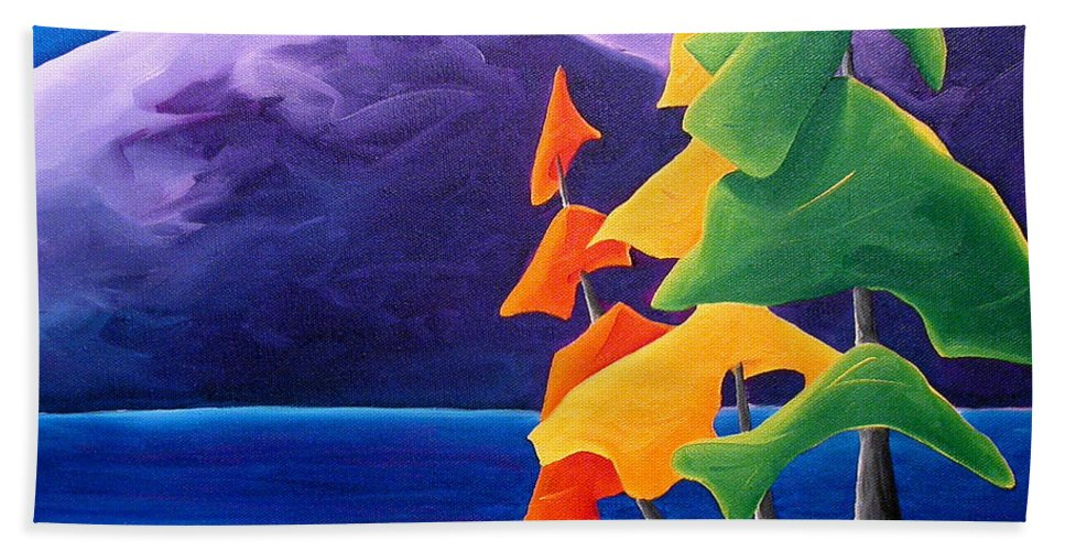 Landscape Beach Towel featuring the painting Being Thankful by Richard Hoedl