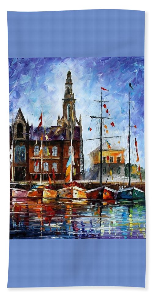 Afremov Beach Towel featuring the painting Belgium by Leonid Afremov