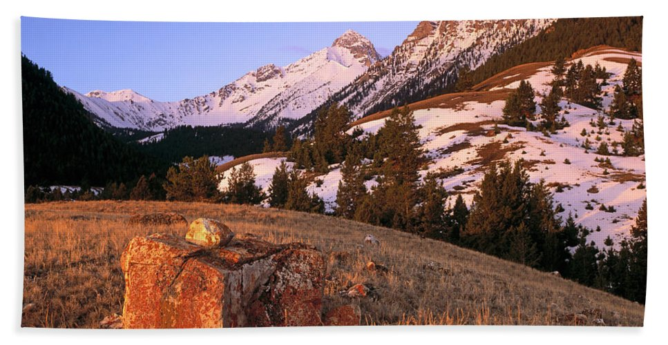 Idaho Scenics Beach Towel featuring the photograph Bell Mountain Sunrise by Leland D Howard