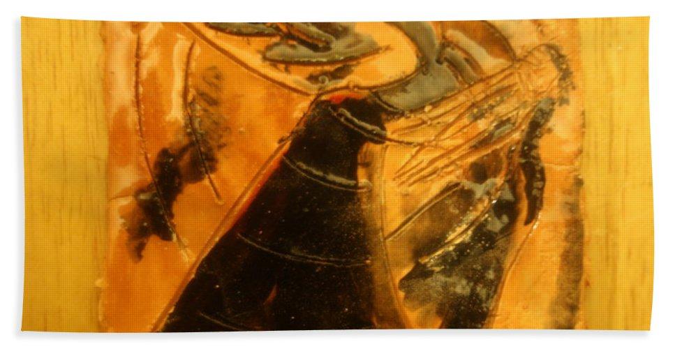 Jesus Beach Towel featuring the ceramic art Belle Ms Miss - Tile by Gloria Ssali
