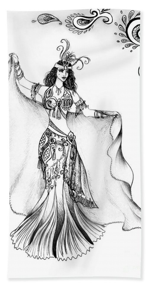 Belly Dancer With Veil  Friend Of Ameynra Beach Towel
