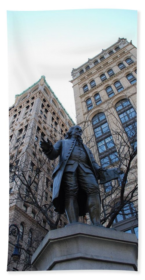 Architecture Beach Towel featuring the photograph Ben Franklin by Rob Hans