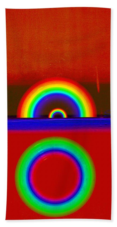 Rainbow Beach Towel featuring the painting Beneath The Deep Blue Sea by Charles Stuart