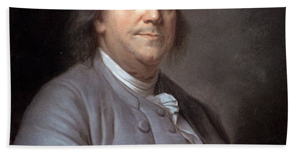 1783 Beach Towel featuring the photograph Benjamin Franklin by Granger