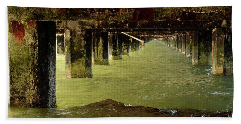 Berkley Beach Towel featuring the photograph Berkley Pier California by Bob Christopher
