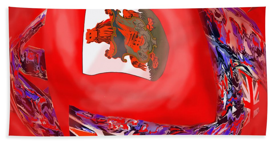 Abstract Beach Towel featuring the photograph Bermuda Flags by Ian MacDonald