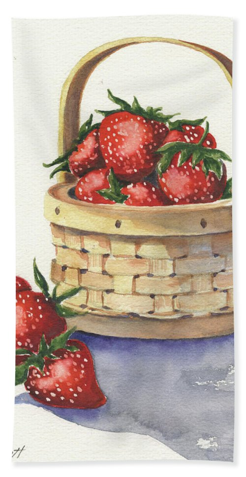 Berry Beach Towel featuring the painting Berry Nice by Marsha Elliott