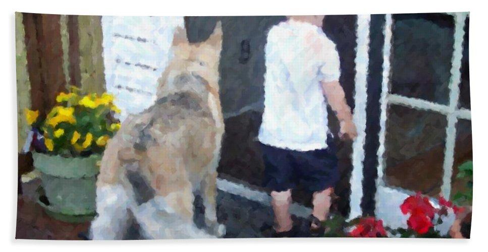 Dogs Beach Sheet featuring the photograph Best Friends by Debbi Granruth