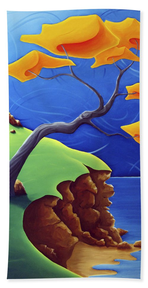 Landscape Beach Towel featuring the painting Beyond Limitations by Richard Hoedl