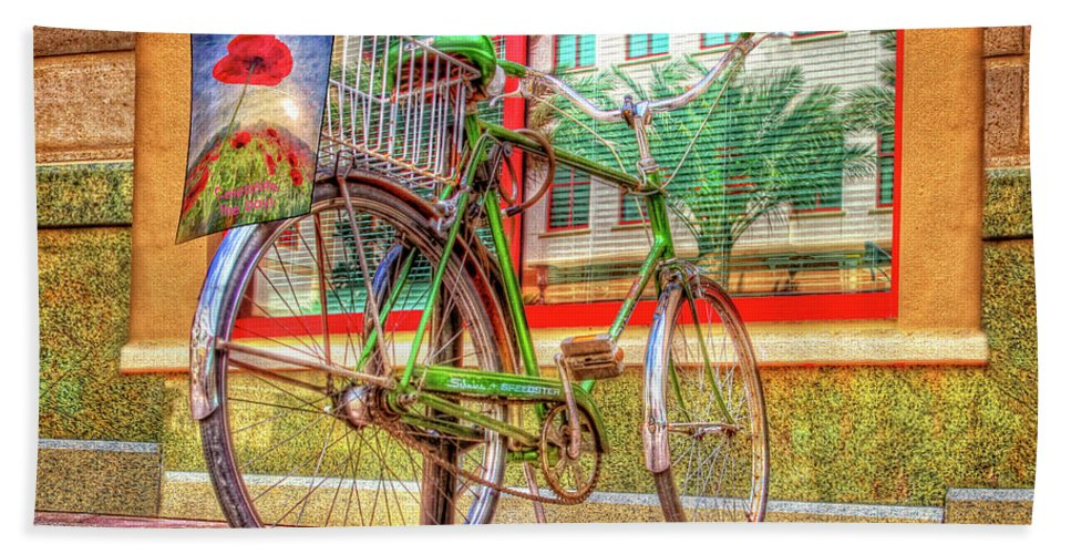 Florida Beach Towel featuring the photograph Bicycle Art by Debra and Dave Vanderlaan
