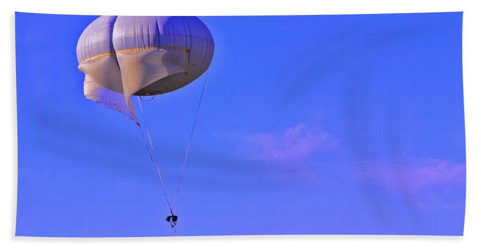Parachute Beach Towel featuring the photograph Big Brother's Parachute by Madeline Ellis