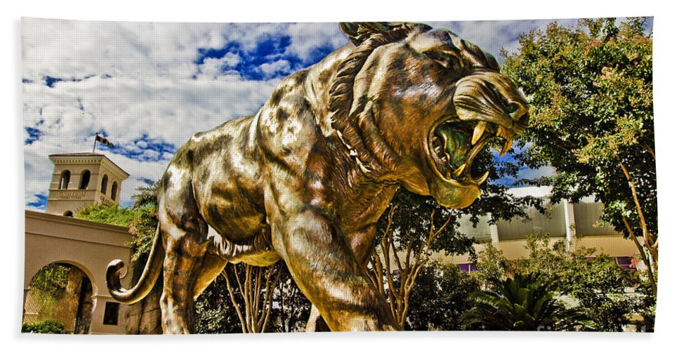 Mike The Tiger Beach Towel featuring the photograph Big Mike by Scott Pellegrin