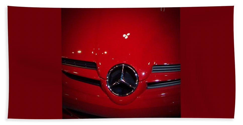 Picture Beach Towel featuring the photograph Big Red Smile - Mercedes-benz S L R Mclaren by Serge Averbukh