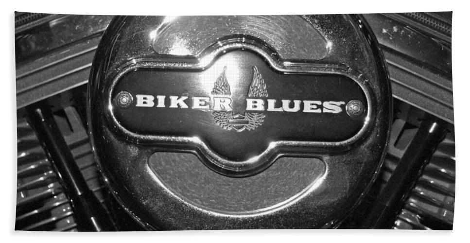 Biker Blues Beach Towel featuring the photograph Biker Blues by Michiale Schneider