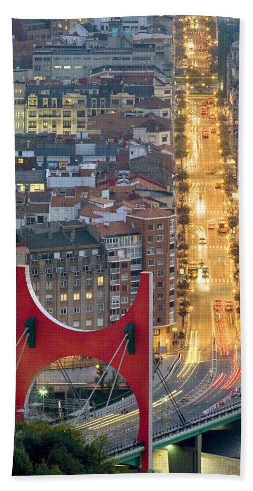 Spain Beach Towel featuring the photograph Bilbao Street by Rafa Rivas