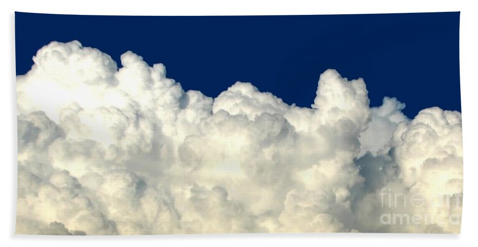 Billowing Clouds 4 Beach Towel featuring the photograph Billowing Clouds 4 by Rose Santuci-Sofranko