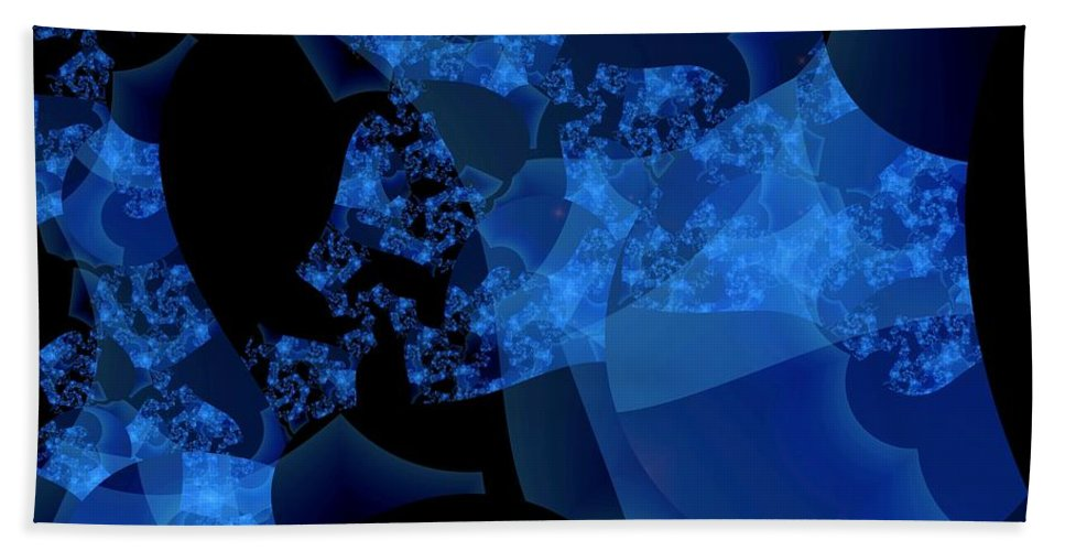 Fractal Art Beach Towel featuring the digital art Bioluminescence by Ron Bissett