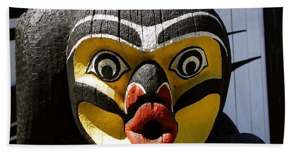Totem Beach Sheet featuring the photograph Bird Man by David Lee Thompson