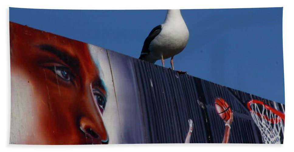 Basketball Beach Towel featuring the photograph Birds Eye View by Xn Tyler